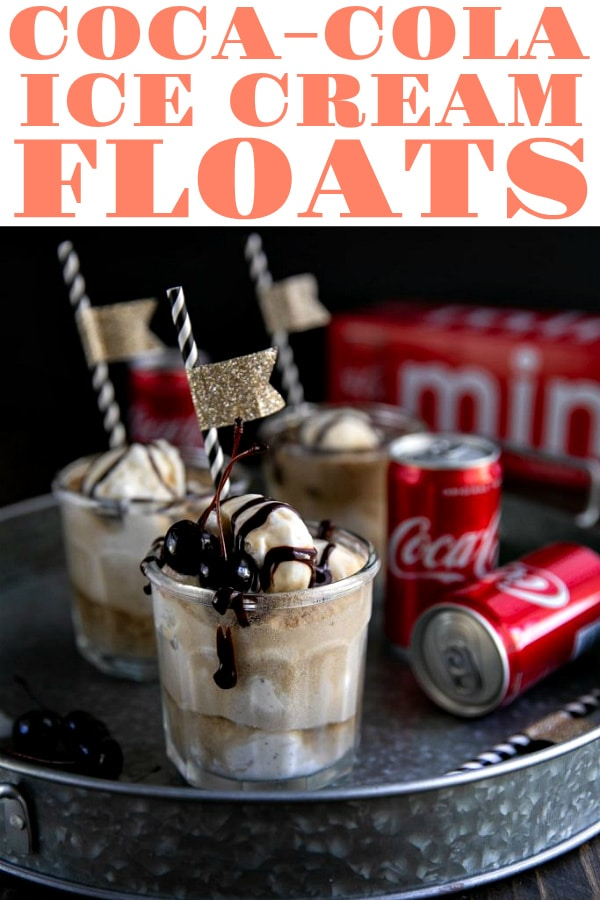 Coca-Cola® Ice Cream Floats. Perfect any time of year, these super easy Coca-Cola® Ice Cream Floats are made with crisp, cold and refreshing soda pop, creamy vanilla ice cream, and smooth chocolate syrup via @theforkedspoon #ad #icecream #cocacola #coke #soda #dessert #icecreamfloat #sweets #dessertrecipe #summertime @CocaCola | For this recipe and more visit, https://theforkedspoon.com