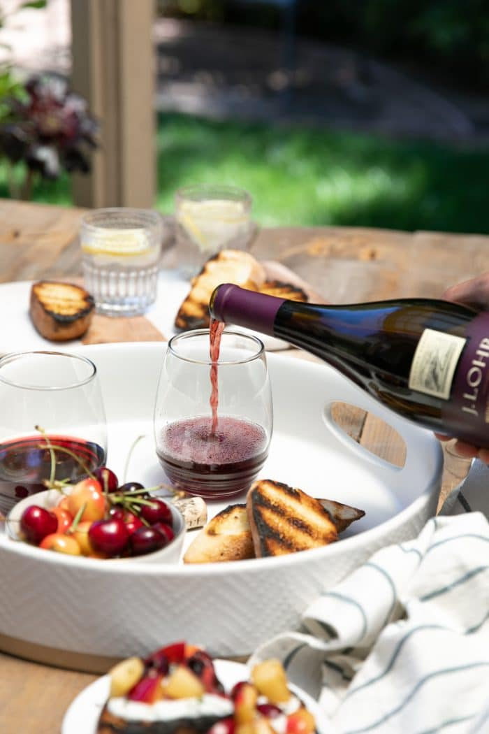 outdoor summer picnic with J. Lohr wine