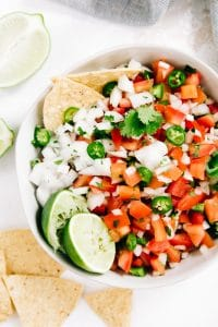 a bowl of pico de gallo