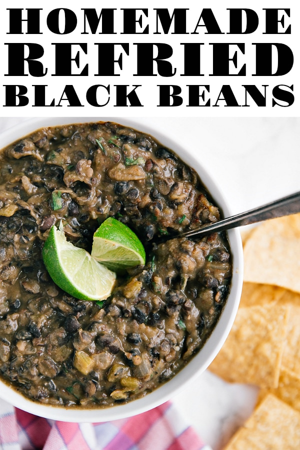 Homemade Refried Black Bean Recipe #beans #blackbeans #refriedbeans #howtomakerefriedbeans #mexicanfood #fromscratch #vegetarian #glutenfree | For this recipe and more visit, https://theforkedspoon.com/how-to-make-refried-black-beans/