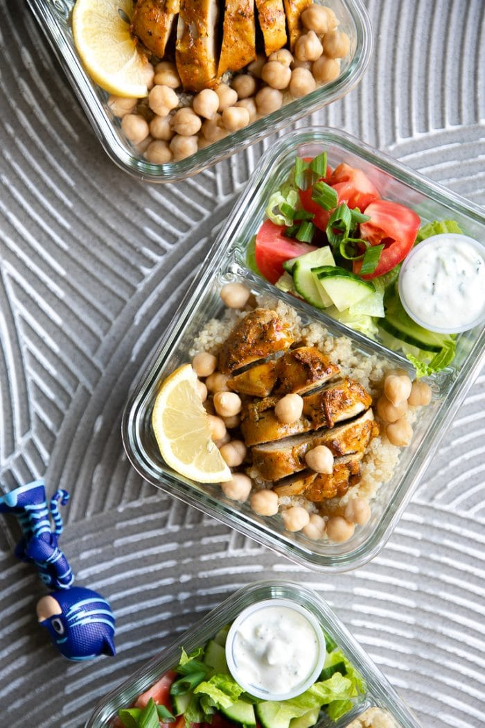 healthy chicken shawarma meal prep ideas