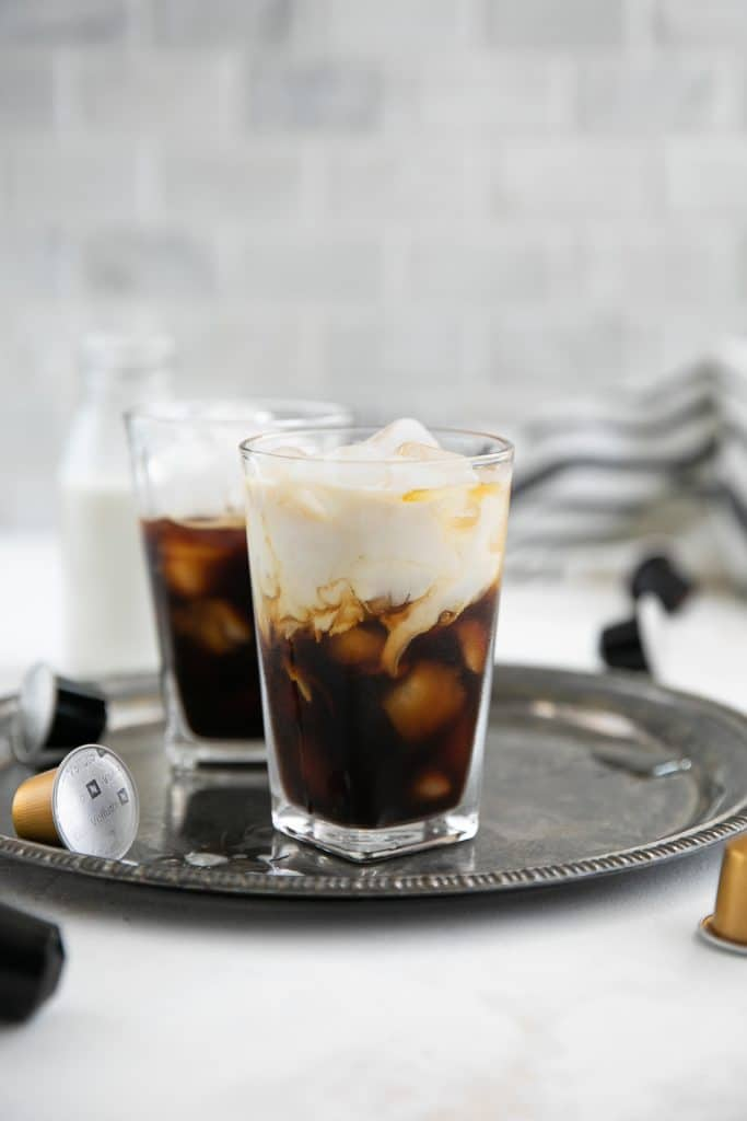 Irish Iced Coffee with cream