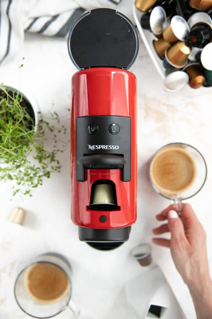 Nespresso Essenza Mini Machine with capsule
