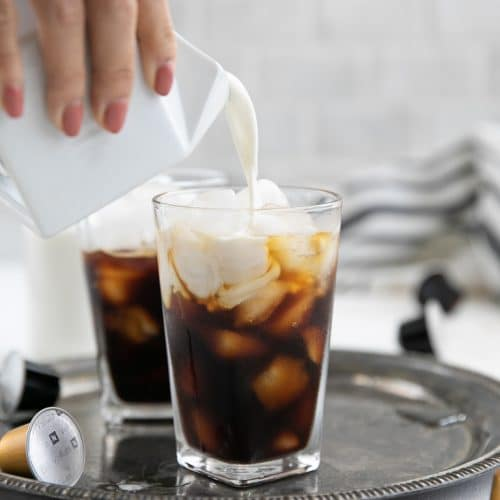 Irish Iced Coffee being poured