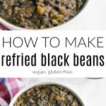 refried black beans long pin