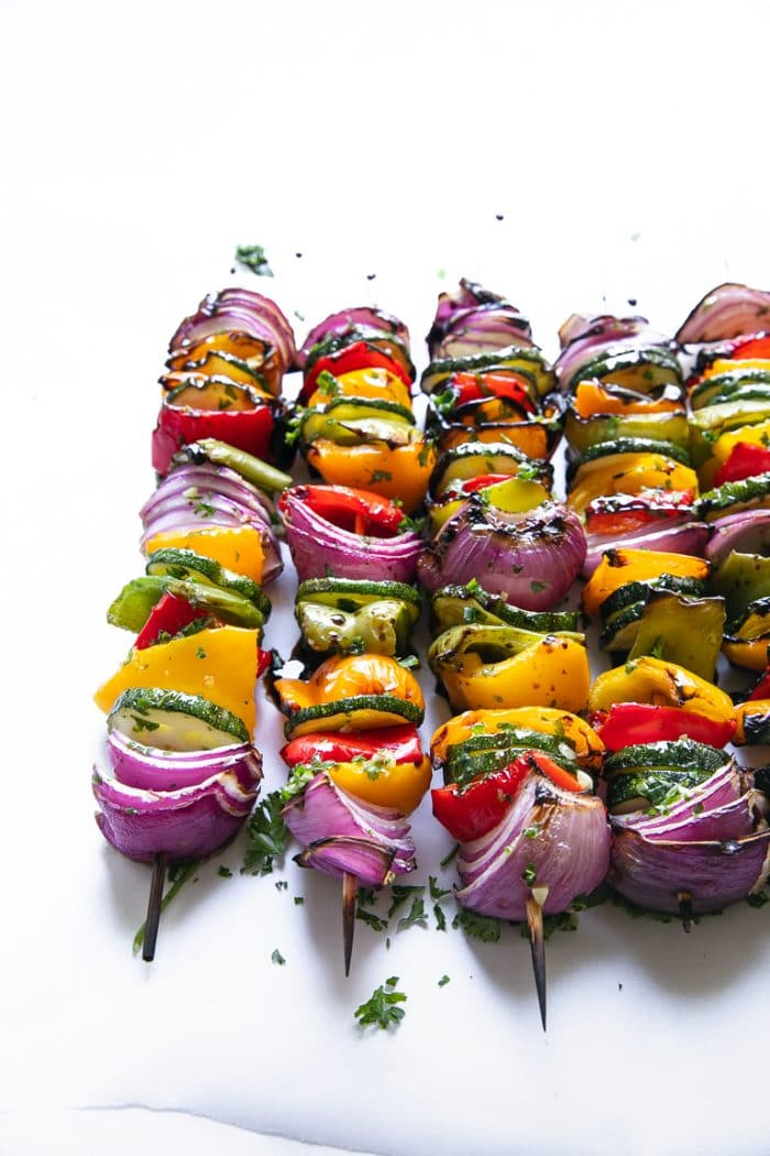 vegetarian grilled veggie skewers