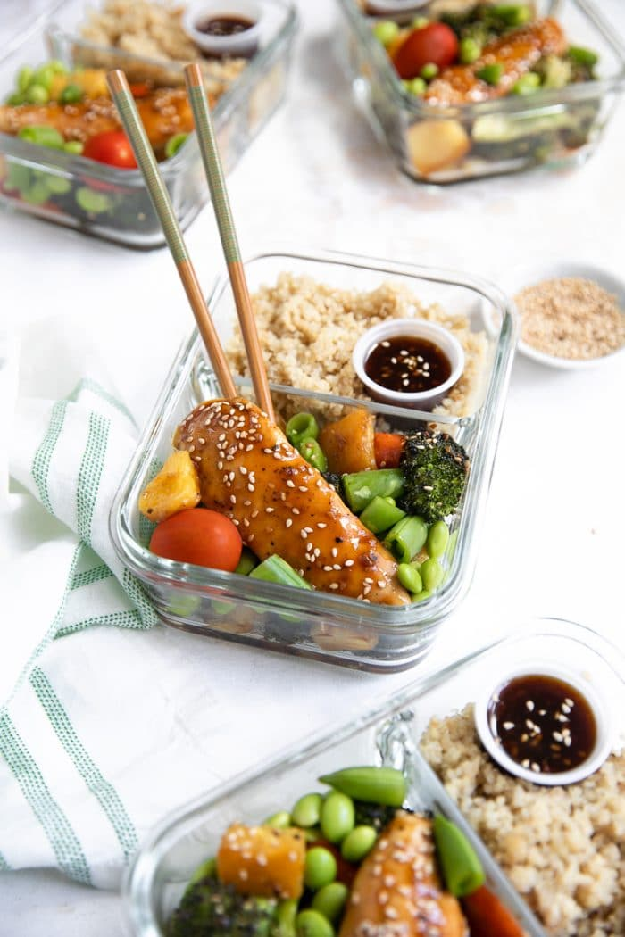 Chicken teriyaki meal prep