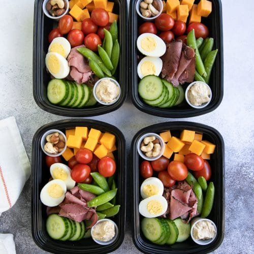 Protein snacks in meal prep containers