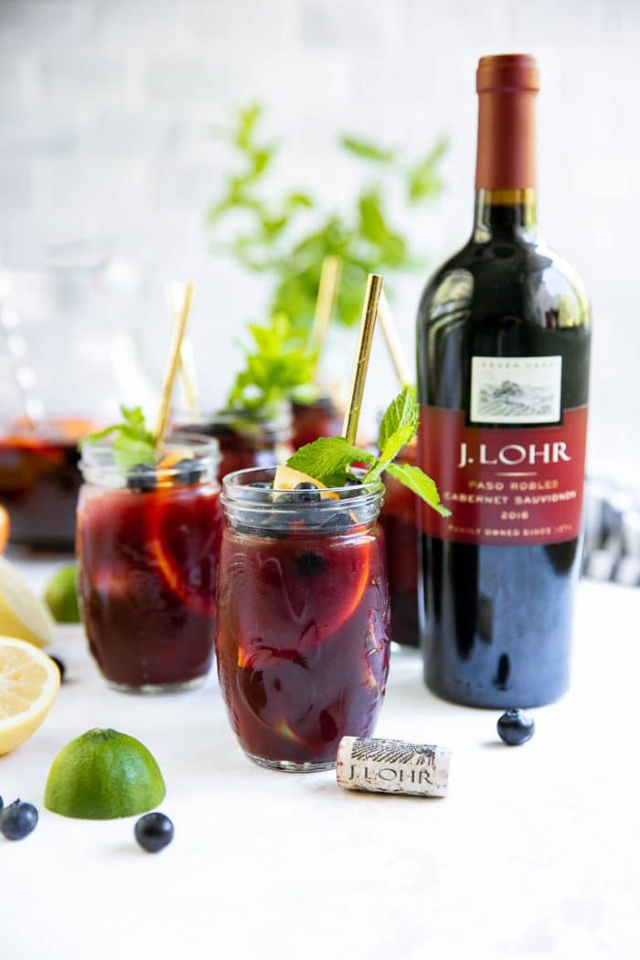Blueberry Sangria Recipe with J.Lohr Cabernet Sauvignon
