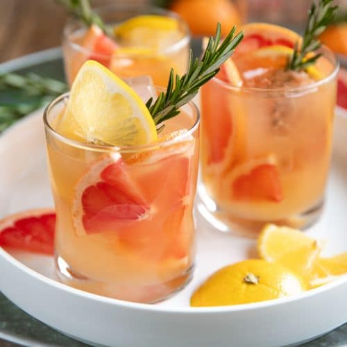 Glasses of Burbon and Grapefruit cocktails