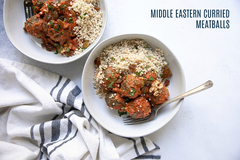 Middle Eastern Curried Lamb Meatballs The Forked Spoon