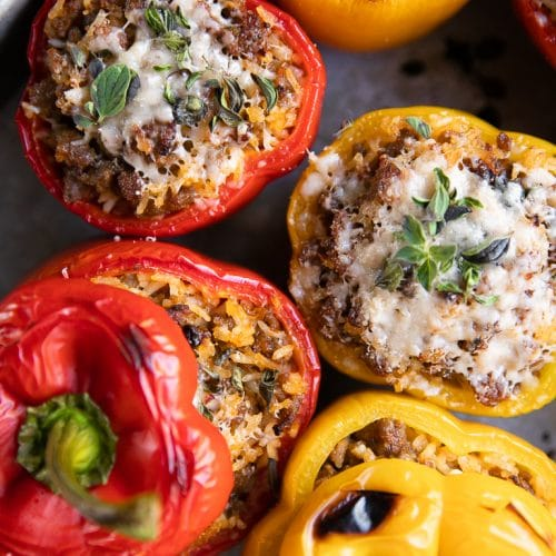 5 Ingredient Sausage Stuffed Peppers