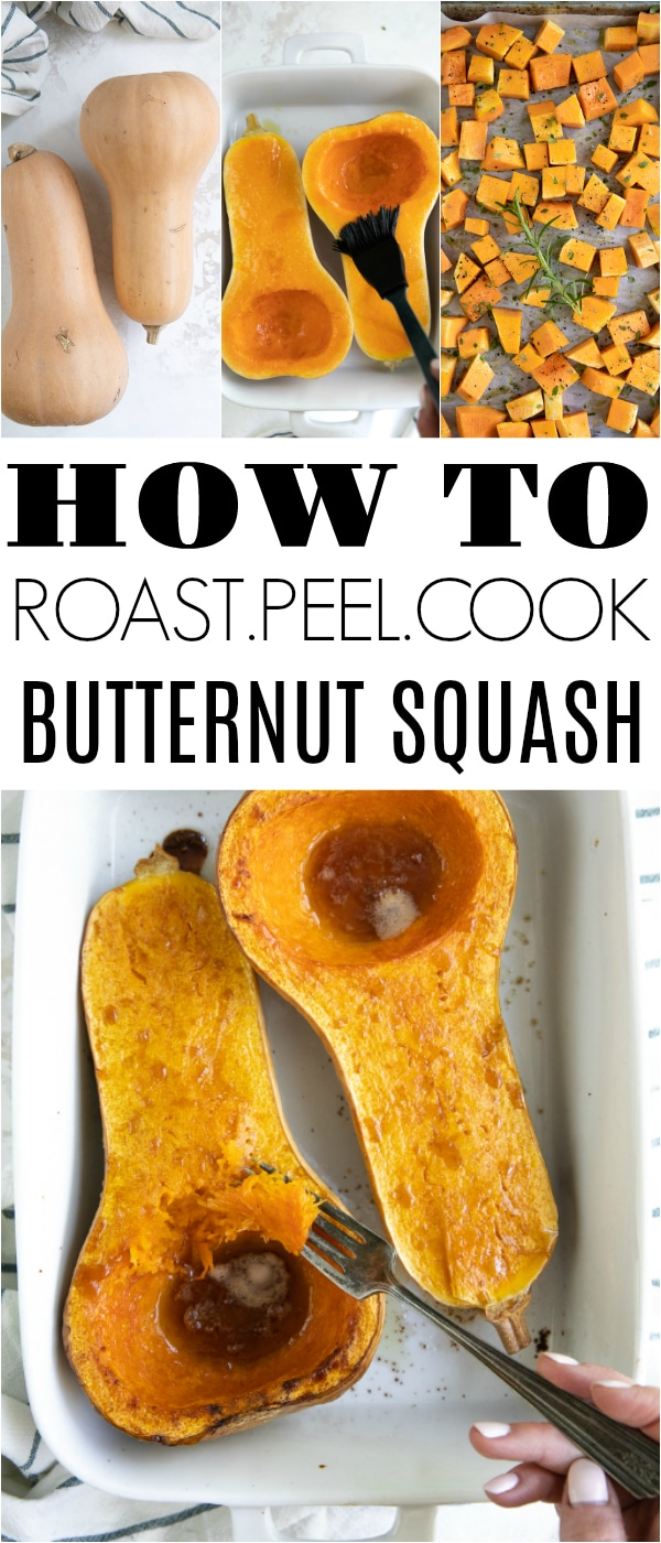 How to Roast Butternut Squash #butternutsquash #DIY #howtocooksquash #butternutsquashrecipes #healthy #vegetarian | For this recipe and more visit, https://theforkedspoon.com/how-to-roast-a-butternut-squash/