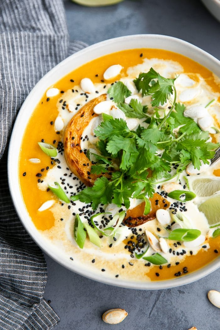 Miso Coconut Butternut Squash Soup