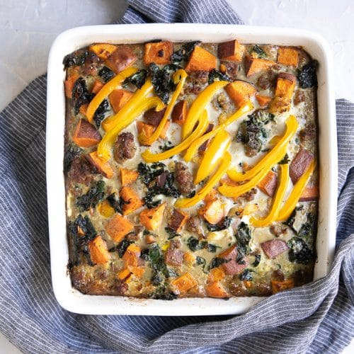 Sweet Potato and Sausage Egg Casserole Recipe