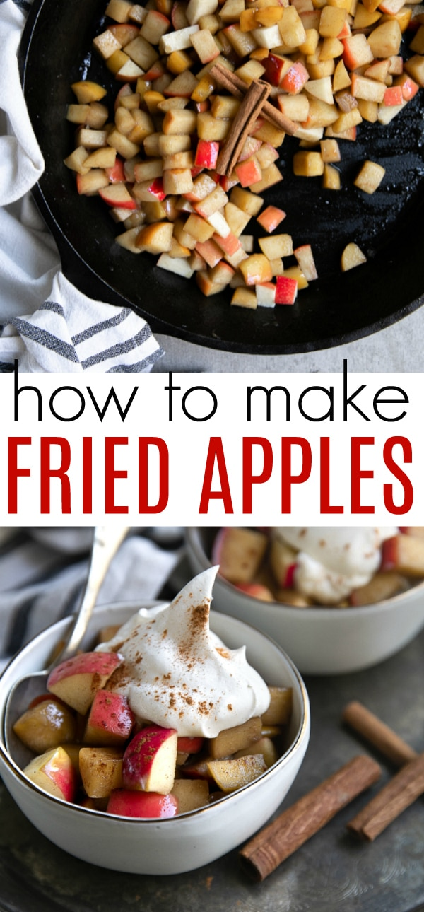 Fried Apples Recipe (How to Make Fried Apples) #apples #friedapples #fallrecipes #appleseason #applepie #easyrecipe | For this recipe and more visit, https://theforkedspoon.com/fried-apples-recipe