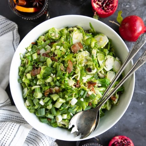 Thanksgiving Spiced Wine and Bacon Brussels Sprouts