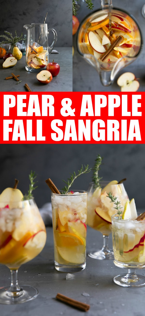 apple cider sangria Pinterest Pin Image Collage