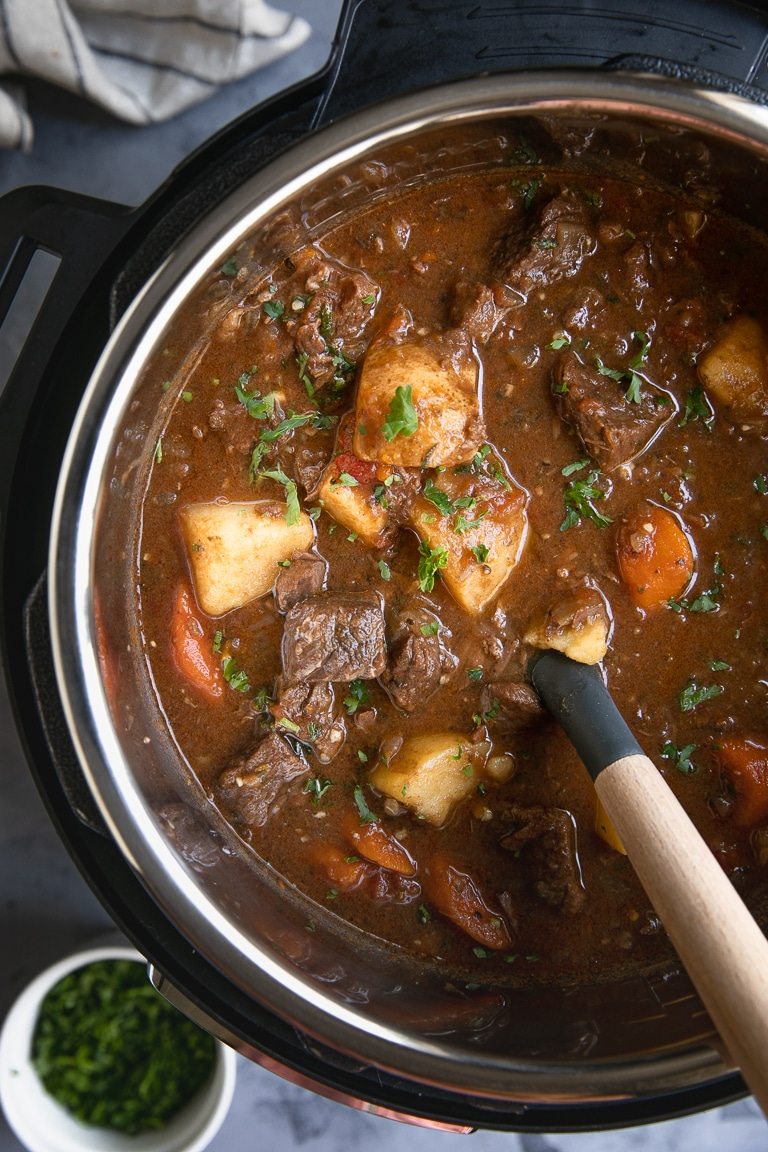 Instant Pot Beef Stew Recipe | We've scoured the internet for some of the best Instant Pot Recipes, and found an amazing assortment! You'll love these handpicked Instant Pot recipes, | Homestead Wishing, Author Kristi Wheeler | https://homesteadwishing.com/instant-pot-recipes/ | instant-pot-recipes #instantpotrecipes #recipes #pressurecookerrecipes #pressurecooker