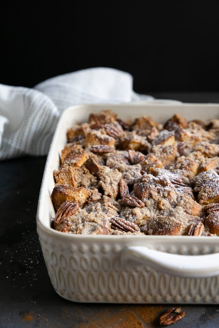 Pumpkin French Toast Bake with Streusel Topping
