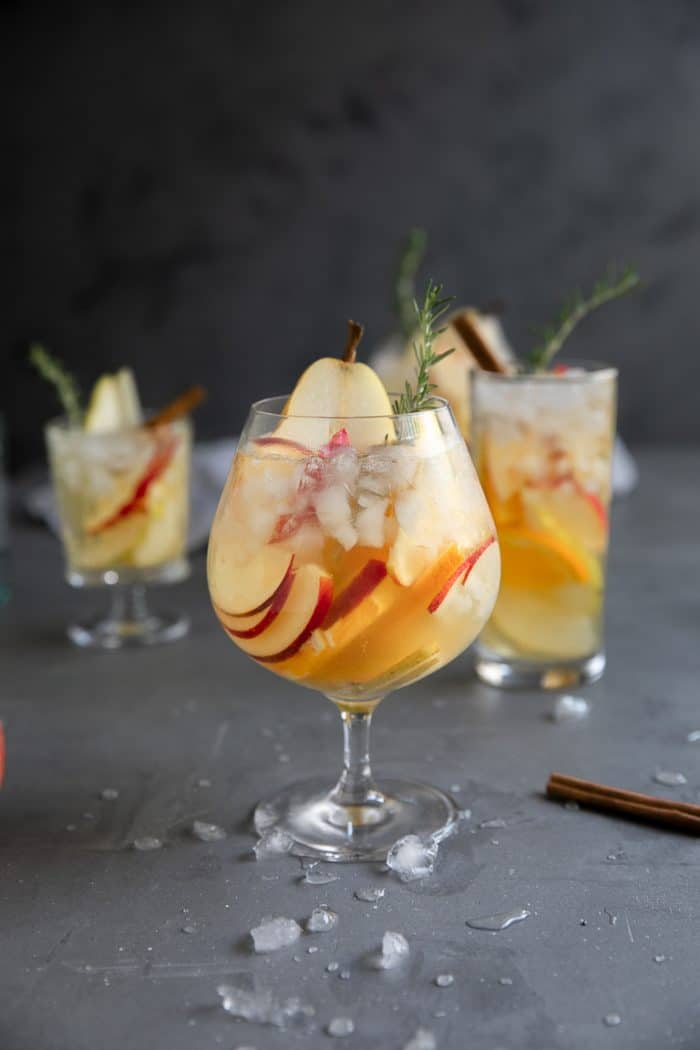 Pear and Apple Fall Sangria Recipe