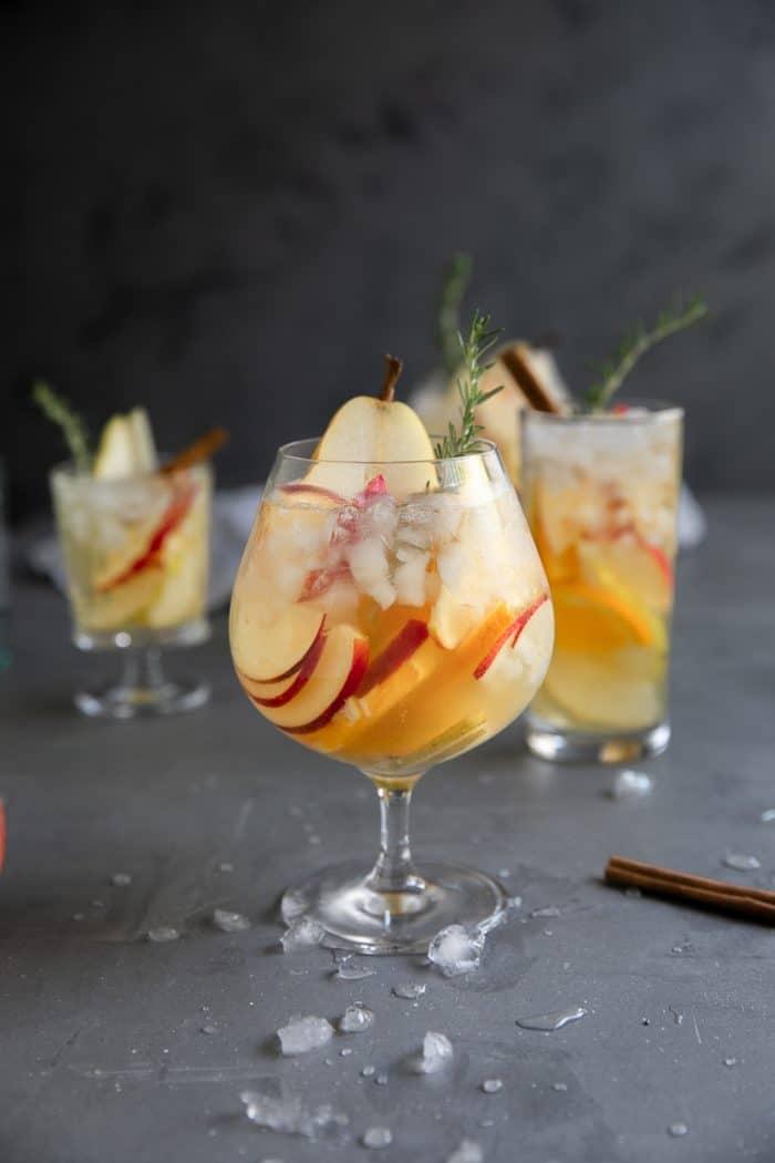 Pear and Apple Fall Sangria Recipe