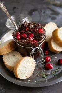 Jar of cranberry bacon jam