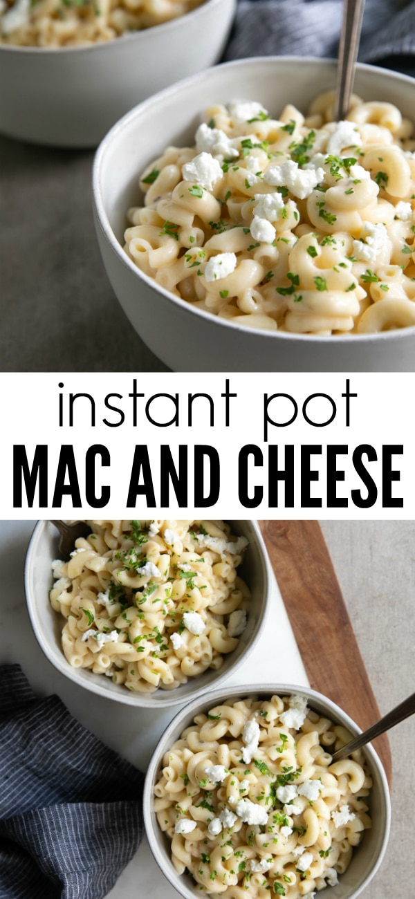 Instant Pot Mac and Cheese- creamy, cheesy, and comforting. #macandcheese #instantpot #macaroni #easydinner #sidedish | For this recipe and more visit, https://theforkedspoon.com/instant-pot-mac-and-cheese-recipe