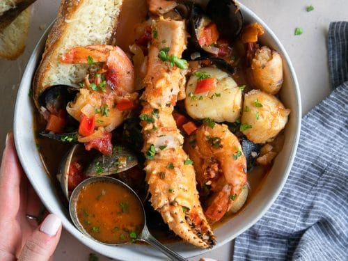 Cioppino Seafood Stew Recipe Video The Forked Spoon