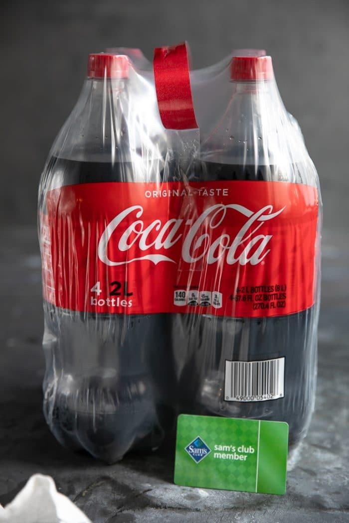 Two liter bottles of coca-cola