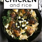 One Pot Chicken and Rice Pinterest Pin Image