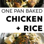 One pot chicken and rice pinterest collage pin image