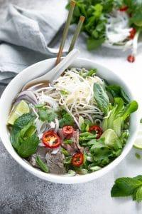 A bowl of Pho soup