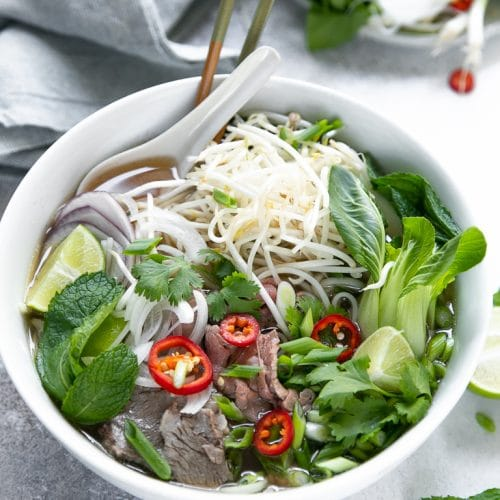A bowl of Pho soup