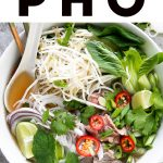 Pho Recipe (How to Make Vietnamese Pho Soup) pinterest pin image (1)