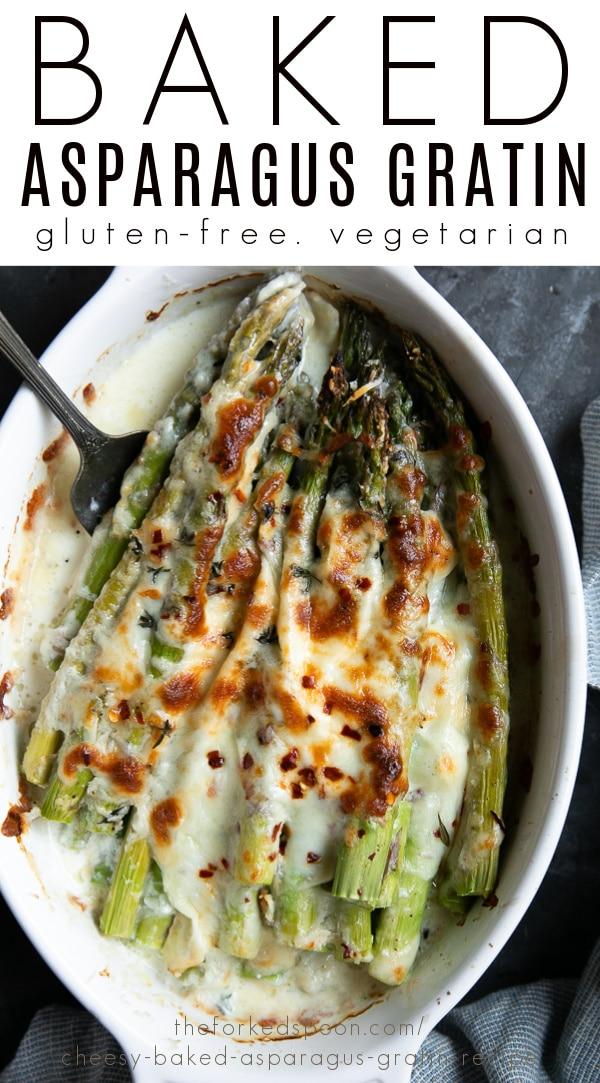 baked asparagus gratin Pinterest PIN Collage