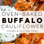 Baked Buffalo Cauliflower Recipe Pinterest Pin Image