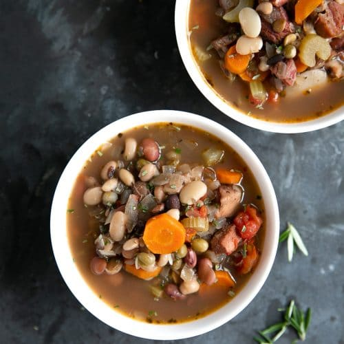 bowls of Ham and Bean Soup