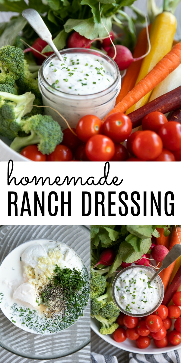 Best Ever Creamy Homemade Ranch Dressing #ranch #ranchdressing #homemaderanchdressing #ranchdip #saladdressing #salad | For this recipe and more visit, https://theforkedspoon.com/homemade-ranch-dressing