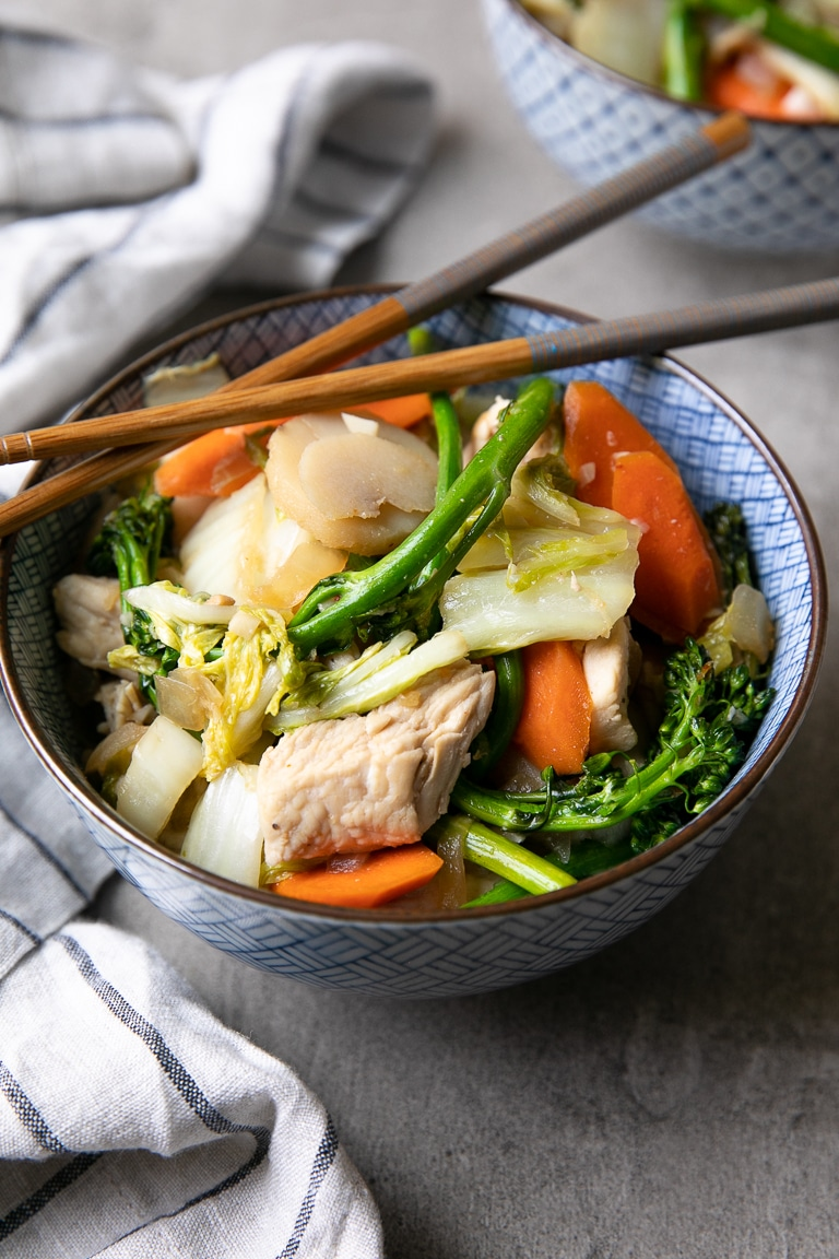 Low Carb Chicken Cabbage Stir Fry Recipe