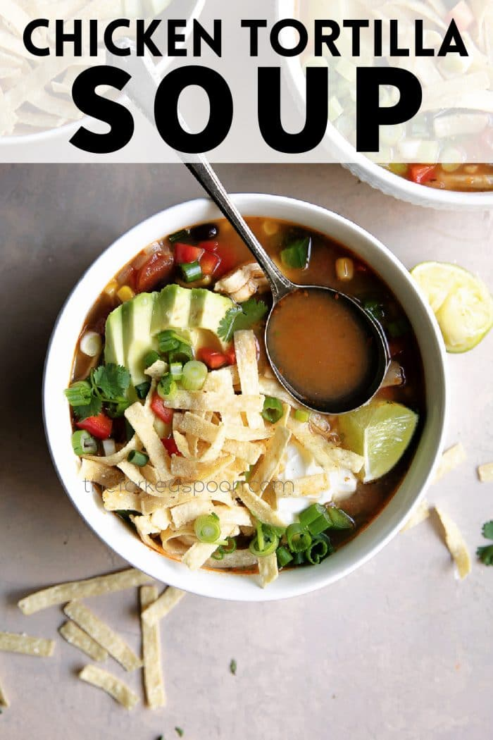 chicken tortilla soup pinterest pin image collage