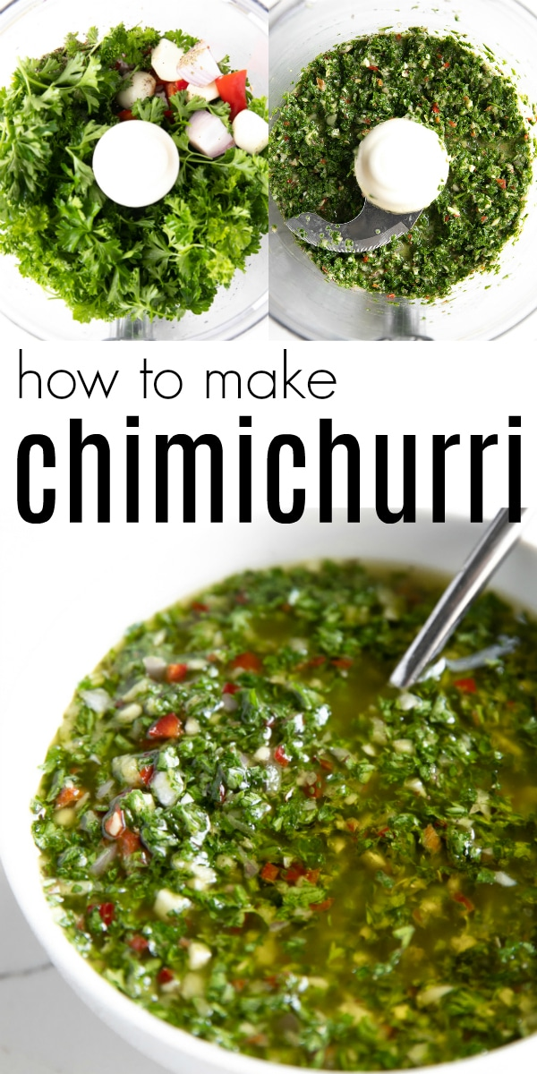 5-Minute Chimichurri Recipe #chimichurri #keto #paleo #whole30 #glutenfree #dairyfree #lowcarb #saucerecipe | FULL RECIPE ></noscript>> https://theforkedspoon.com/chimichurri-recipe/
