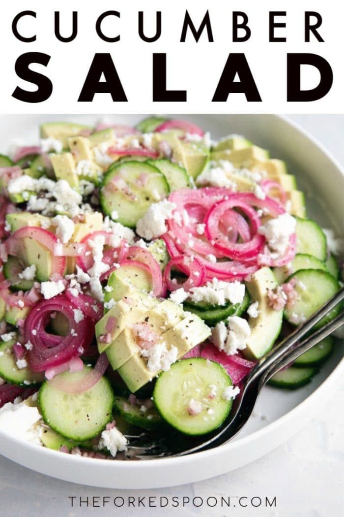 cucumber salad pinterest pin image