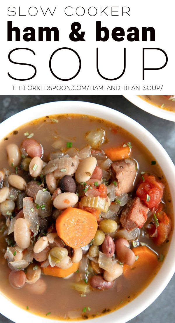 ham and bean soup Pinterest Pin Collage Image