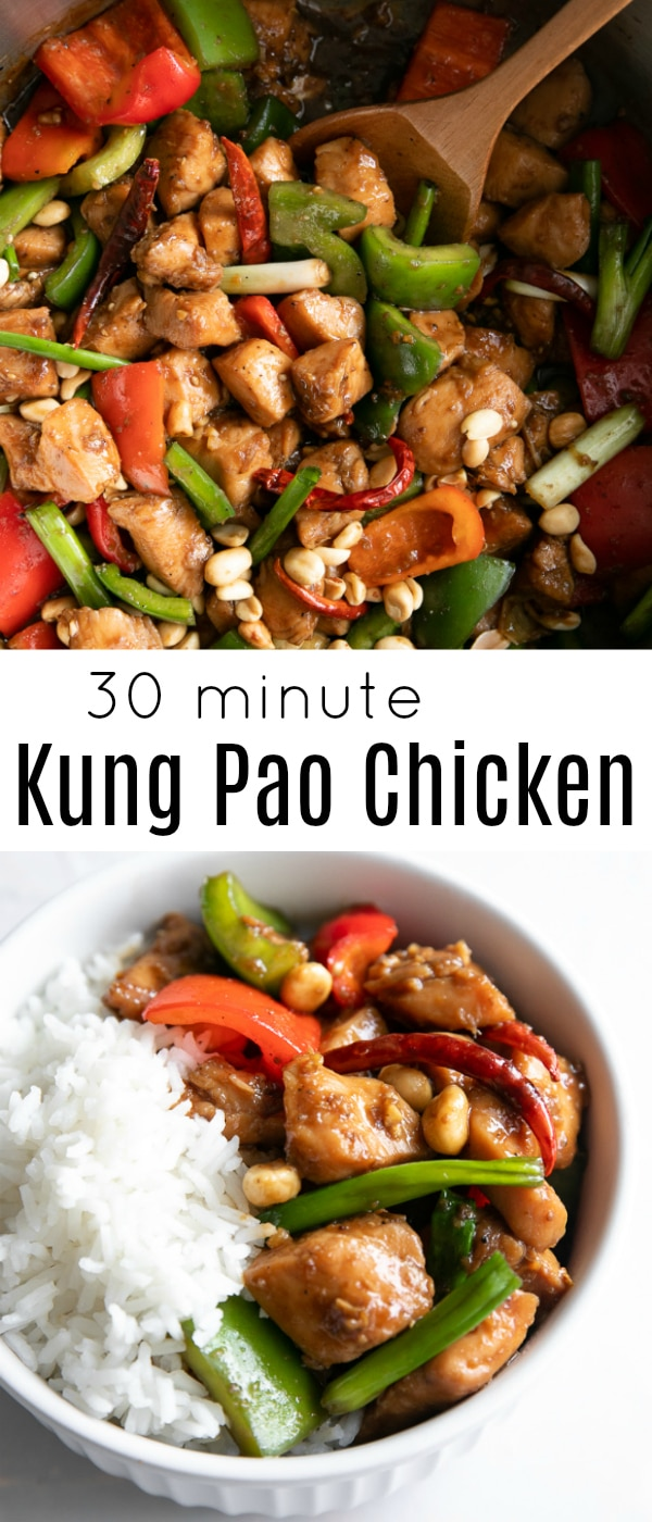 Kung Pao Chicken #chicken #kungpaochicken #chinesefood #takeout #takeoutrecipes #SichuanPeppercorns #stirfry | For this recipe and more visit, https://theforkedspoon.com/kung-pao-chicken/