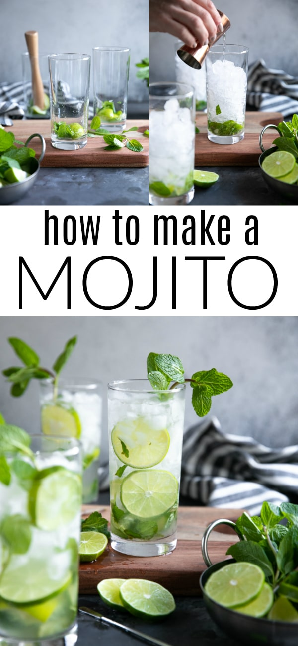 Mojito Recipe (How to Make a Mojito) #cocktail #rum #whiterum #cocktailrecipe #summer | For this recipe and more visit, https://theforkedspoon.com/mojito-recipe