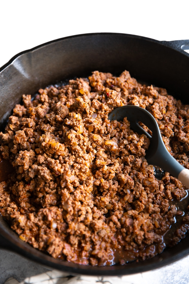 Ground Beef Taco Meat The Forked Spoon