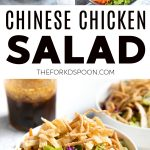 chinese chicken salad pinterest pin image