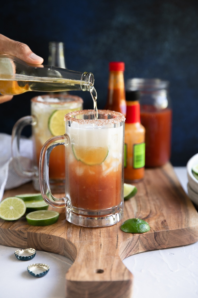 Michelada Recipe With Homemade Clamato Juice The Forked Spoon