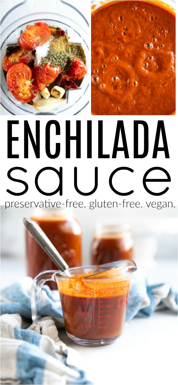 Enchilada Sauce Recipe (How to Make Enchilada Sauce) #preservativefree #enchiladasauce #enchiladas #mexicanfood #redenchiladasauce #howtomakeenchiladas #glutenfree #vegetarian #dairyfree | For this recipe and more visit, https://theforkedspoon.com/enchilada-sauce-recipe/